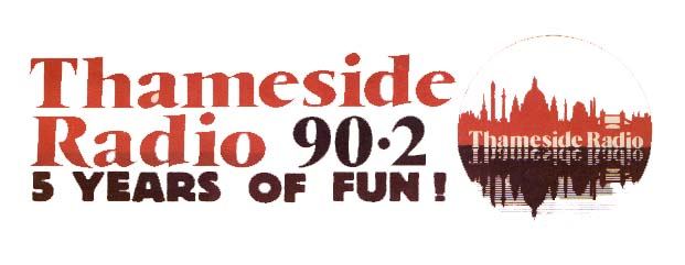 Thameside Radio 90.2 five year poster